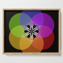 Focus Flower Purple - Digital Art  Serving Tray