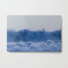 Blue Sea Wave Metal Print