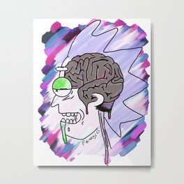 rick's brain Metal Print