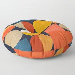 mid century geometric abstract Floor Pillow