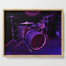 Shiny Drum-set Serving Tray