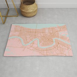 New Orleans map, Lousiana Rug