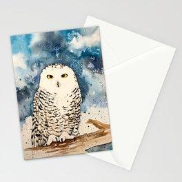 Blue Snowy Stationery Cards