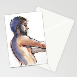 NATE, Semi-Nude Male by Frank-Joseph Stationery Cards