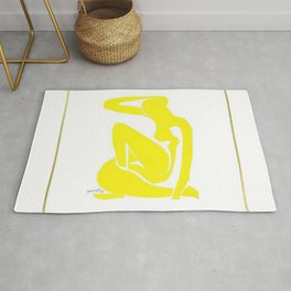 Henri Matisse, Nu Jaune II (Yellow Nude II) lithograph modernism portrait painting Rug