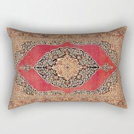 Tabriz  Antique West Persian Azerbaijan Carpet Print Rectangular Pillow