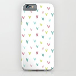 Watercolor Marks Pattern | Pink and Green iPhone Case