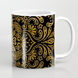 Sophisticated Black and Gold Art Deco Pattern Coffee Mug