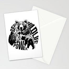 Bear power II Stationery Cards