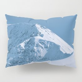 Winter Mountains in Glacier Blue - Alaska Pillow Sham