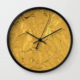 Roll'd Gold Wall Clock