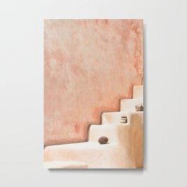 Stairway in Santorini Metal Print