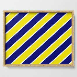 TEAM COLORS ONE NAVY,YELLOW,WHITE Serving Tray