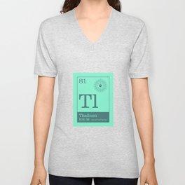 Periodic Elements - 81 Thallium (Tl) Unisex V-Neck