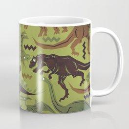 Camouflage Dinosaur Geometric Pattern Coffee Mug