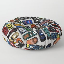 Toy cars pattern Floor Pillow