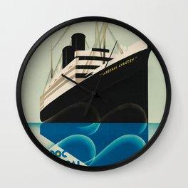 Maroc Senegal Levant Vintage Travel Poster Wall Clock