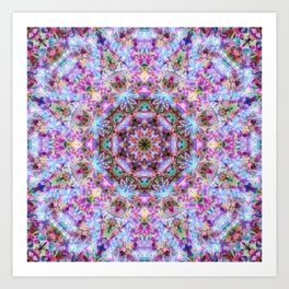 Astrid - Psychedelic Kaleidoscopic Design Art Print