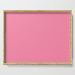 From The Crayon Box – Inspired by Tickle Me Pink - Bright Pink Solid Color Serving Tray