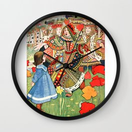 Vintage illustration Alice in Wonderland Wall Clock