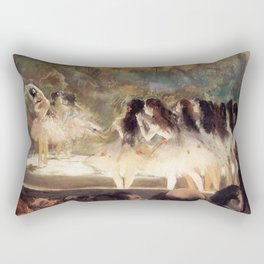 Ballet At The Paris Op Ra 1877 78 By Edgar Degas | Reproduction | Famous French Painter Rectangular Pillow