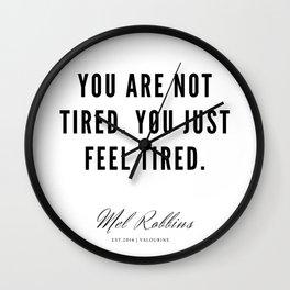 86   | Mel Robbins Quotes | 190802 Wall Clock