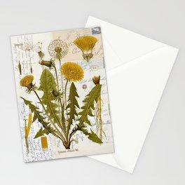 Vintage Dandelion on Antique Postcards Stationery Cards
