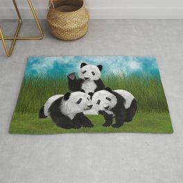 Panda Bear Cubs Love Rug