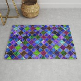 Peacock Arabesque Digital Quilt Rug