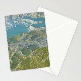 pamukkale lime sinter terrace Stationery Cards