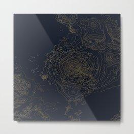 Mt. Shasta, California Topographic Contour Map Metal Print