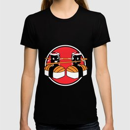 Sushi Fighting Maki Sushi Roll Chopstick T-shirt
