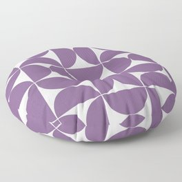 Medium violet mid century shapes Floor Pillow
