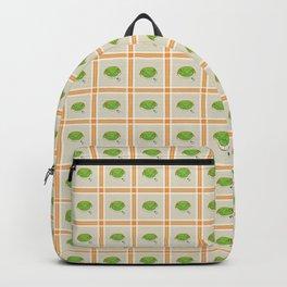 Green Gecko Plaid Backpack