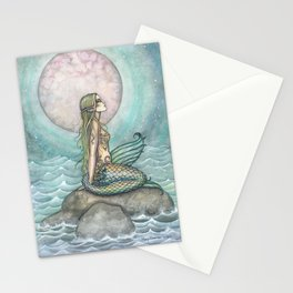 The Pastel Sea Mermaid Fantasy Art by Molly Harrison Stationery Cards