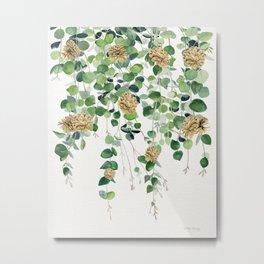 Eucalyptus and Pine Cone Garland  Metal Print