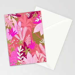 Into the jungle - sunset Stationery Cards