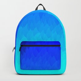 Electric Blue Ombre flames / Light Blue to Dark Blue Backpack