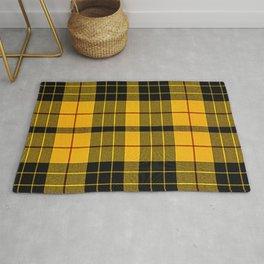 Tartan yellow and black Rug