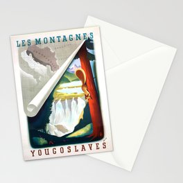 retro Les Montagnes Yugoslaves Stationery Cards