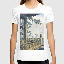 Hasui Kawase, Sunset At Nigatsudo, Nara - Vintage Japanese Woodblock Print Art T-shirt