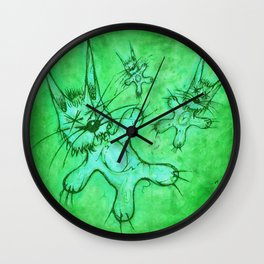 Record Cover for some Jazzed Rabbits, Greenish. Wall Clock