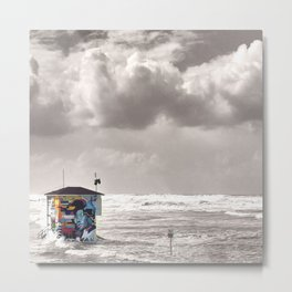 Save the Lifeguard Square Metal Print