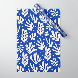 matisse pattern with leaves in blu Wrapping Paper