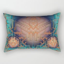 Ayahuasca - Geometric Design - Fractal - Manafold Art Rectangular Pillow