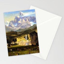 The Rocky Mountains, Lander's Peak by Albert Bierstadt Stationery Cards