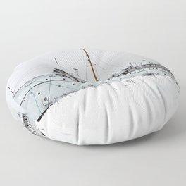 SS Keewatin in Winter White Floor Pillow
