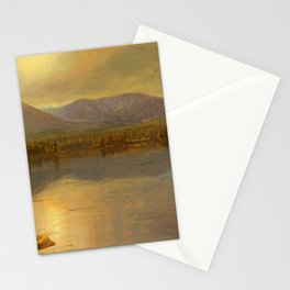 "Frederic Church ""Mounts Katahdin and Turner from Lake Katahdin, Maine"" Stationery Cards"