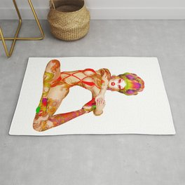 An Epic Romp begins with a great stretch  Rug