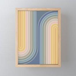 Gradient Curvature IV Framed Mini Art Print